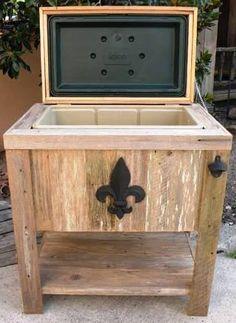 Barn wood ice chest