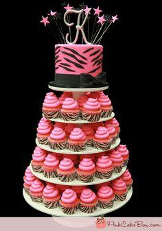 Zebra Print with Pink Cake #Zebra