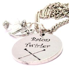 Baton Twirler Necklace  with crystal beadwork Fast by CorsoStudio, $15.99