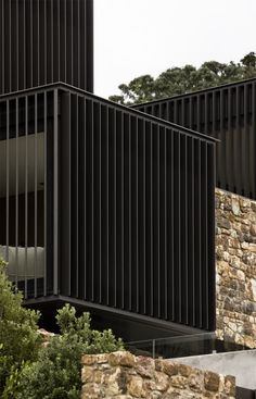 Local Rock House - Architizer...love the different materials on the different components of this building.