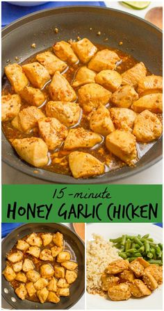 A 5-ingredient, 15-minute honey garlic chicken with an addictively delicious???