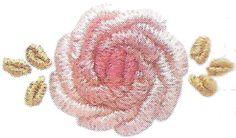 Мастер-класс вышивки розы в стиле и технике рококо