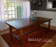 DIY farmhouse style dining room table tutorial and tips!