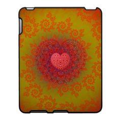 Red Yellow & Orange Heart Fractal Ipad Skin $56.20