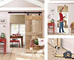 DIY sliding doors | Rosa's Inspiration : DIY idea for your interior: Sliding doors