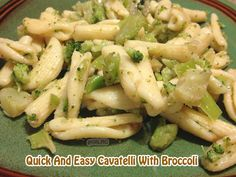 Quick And Easy Cavatelli With Broccoli #recipe - #pasta From Val's Kitchen