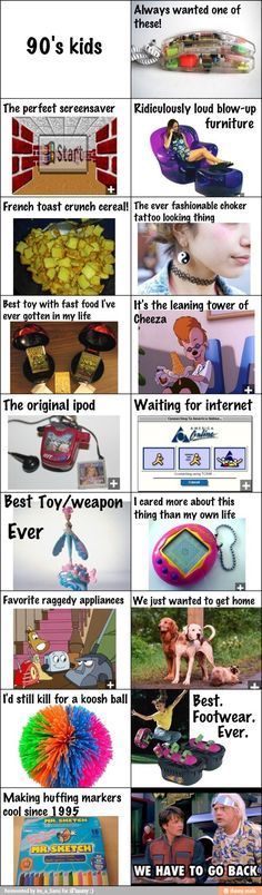 90s kids. Remember when?