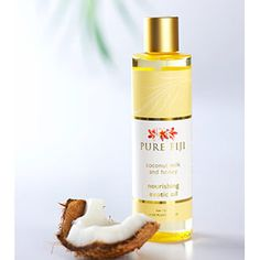 Pure Fiji Exotic Bath & Body Oil - Coconut Milk & Honey Infusion    #Fiji, #Coconut, #Milk, #Honey, #Massage, #Island, #PureFiji, #Skincare, #Exotic, #Tropical, #Oil, #Organic, #Spa