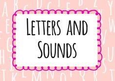 Letters and Sounds - Twinkl