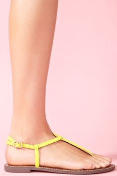 Yellow Gigi sandal from Nasty Girl