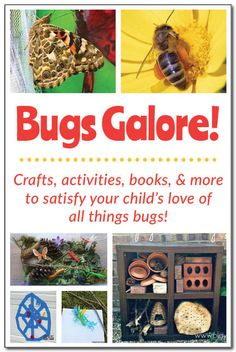 Bugs galore! 10 bug-themed activities, crafts, books, sensory play, songs, and more for kids ages 3-9! #bugs #insects #handsonlearning || Gift of Curiosity