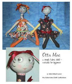Free Fabric Doll Patterns   Free Cloth Doll Pattern - Project - Etta Mae