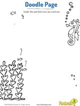 Let kids doodle! In this printable, kids use their imagination to complete the under-the-sea scene. #prek #coloringpages #oceans #printables #earlylearning