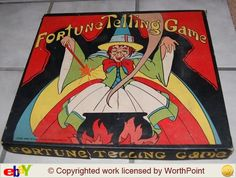1934 Fortune Telling Game made by Whitman. Sold for $32 in 2009