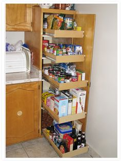 Example A: Kitchen Pantry Cupboard/Broom Closet (After)