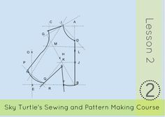 FREE pattern making course lesson 2 step by step guide to making your own bodice block #sewing #patternmaking