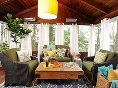 screen porch decorating, sunroom makeover, outdoor screen rooms, garden, sunroom cost, screened in porch decor, curtain, covered porches, screened porches