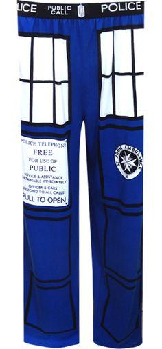 WebUndies.com Dr. Who Blue TARDIS Inspired Loungepants