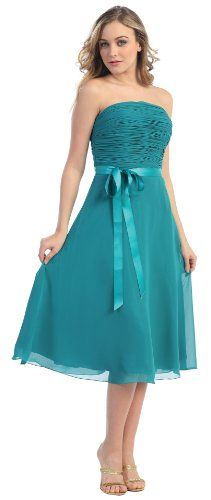 Strapless Chiffon Junior Prom Dress #2726 « Dress Adds Everyday