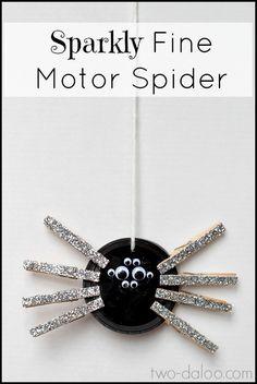 Sparkly Fine Motor Spider