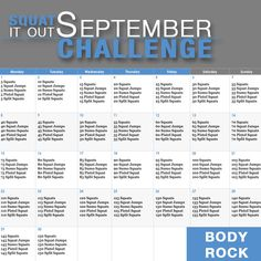 Squat It Out September Challenge