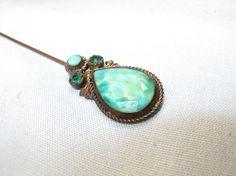 emerald hat pin