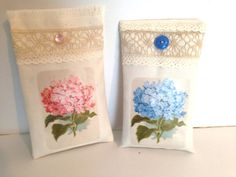 Lavender sachet set of two with hydrangeas by PillowtasticPlus, $8.00