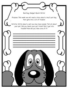 Second Grade Reading Street story Bad Dog, Dodger Quick Write. This is to be given to students before reading the selection. Teachers will be able ...