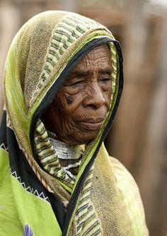 Borana old woman in El Dima - Ethiopia