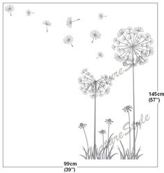 wall decal nursery wall decal baby wall decal room wall decal flower vinyl wall sticker wall decal   children-Dandelions. $33,00, via Etsy.