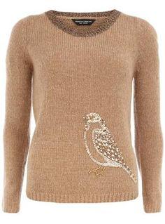 bronze, embellish jumper, cloth, style, bird embellish, button, jumpers, bronz bird, birds