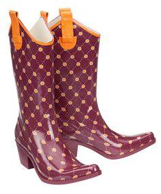 Hokie rain boots