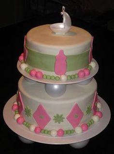 simple homemade baby shower cakes for girls   Baby Shower Cakes For Girls Recipes