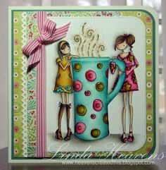 Coffee and Friends stamp by Bella done by Linda Heavens