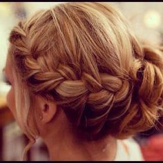 Stunning plaited up-do. #plaits #hair #natural #blonde #updo #hairstyle   #inspiration