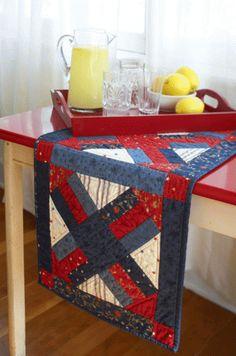 Red, White & Blue Table Runner | AllPeopleQuilt.com