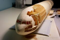 A 1:60-Scale Bowing 777 Built Entirely from Paper Manilla Folders by Luca Iaconi-Stewart  http://www.thisiscolossal.com/2014/01/paper-bowing-airplane/