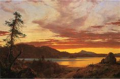 Frederic Edwin Church Sunset Painting