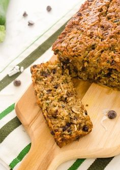 Oatmeal Coconut Chocolate Chip Zucchini Bread by flavorthemoment: Moist, hearty, and nutritious #Zucchini_Bread #Oatmeal #Coconut #Chocolate_Chip