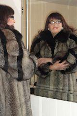 Transvestite in fur