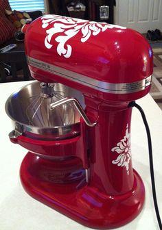 Kitchenaid mixer damask decals!