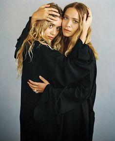 Mary Kate & Ashley Olsen in black for Vogue Germany #style #fashion #celebrity #mka #olsentwins