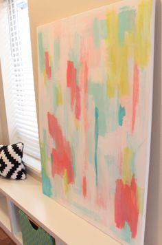 danielle oakey interiors: DIY Abstract Art Tutorial