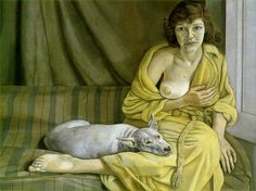 Girl with a White Dog - Lucien Freud 1951