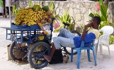 Fruit Vendor on the beaches of Boca Chica in the Dominican Republic