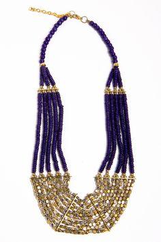 Indigo Multi Strand Necklace