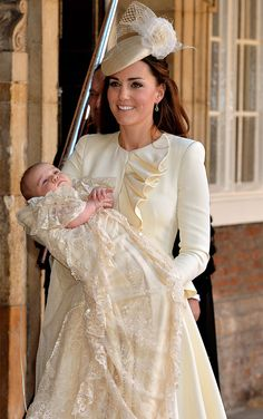 Prince George and beautiful Kate, Duchess of Cambridge
