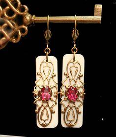 Upcycled Ivory Piano Key Jewelry