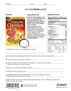 Fun Nutrition Worksheets for Kids