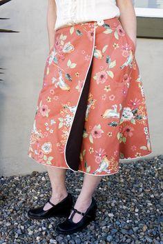 revers skirt, sewing machines, wrapskirt advanc, wrap skirt, skirt patterns, sewing projects, shower curtains, revers wrap, sewing patterns
